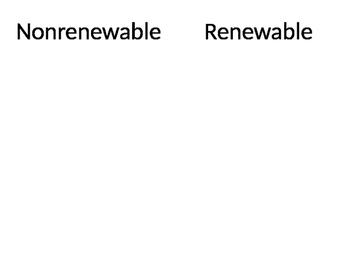 Nonrenewable Renewable Resources Game