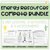 Energy Resources: Nonrenewable, Renewable, & Energy Use CO