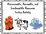 Nonrenewable, Renewable, and Inexhaustible Resources Sort