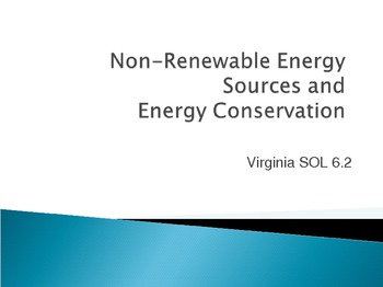 Nonrenewable Resources, Fossil Fuels, and Energy Conservation PowerPoint
