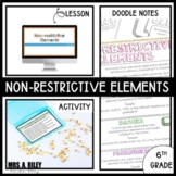 Nonrestrictive Elements | Doodle Notes and Activity