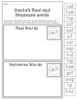 Nonsence words