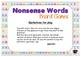 Nonsense CVC Words Board Games