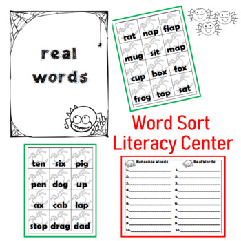 Nonsense Word Sort for Literacy Centers