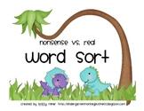Nonsense Vs. Real Words Dinosaur Word Sort