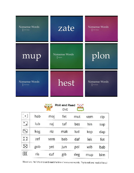 Nonsense Word Activities