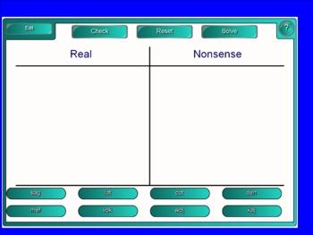 Dibels Nonsense Word Activities for Smartboard