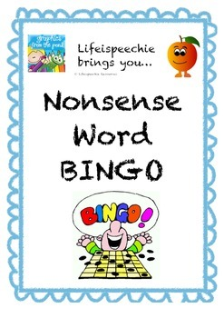 Nonsense Word BINGO