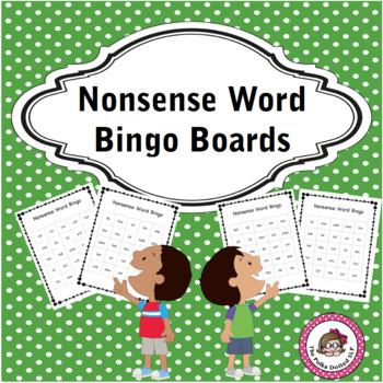 Nonsense Word Bingo Boards