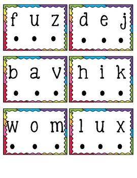 Nonsense Word Blending Cards