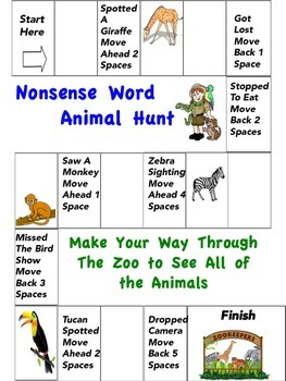 Nonsense Word Board Game