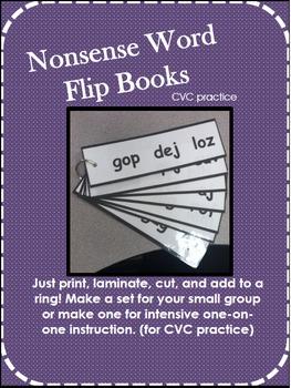 Nonsense Word (CVC) Flipbooks