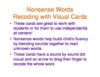 Nonsense Word Cards