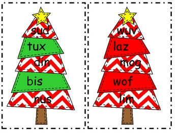 Nonsense Word Christmas Trees
