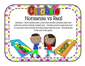 Nonsense Word  Cornhole (Real vs Nonsense)