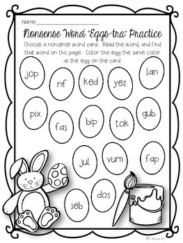 """Nonsense Word """"Eggs-tra"""" Practice {An Easter Freebie}"""