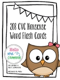 210 CVC Nonsense Word Flash Cards