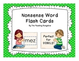 Nonsense Word Flash Cards {Great for DIBELS or AIMSWEB!}