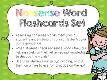 Nonsense Word Flashcards