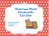 Free Nonsense Word Flashcards List One