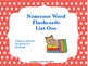 Free Nonsense Word Flashcards List One