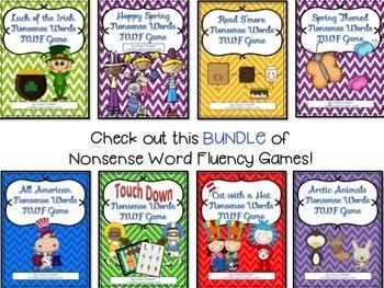 Nonsense Word Fluency - 8 Game Bundle