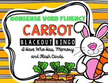 Spring Nonsense Word Fluency RTI Resource Games (Carrots/Bunny Theme)