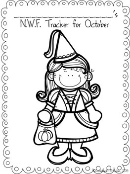 Halloween Nonsense Word Fluency R.T.I. ASSESSMENT Pack for October