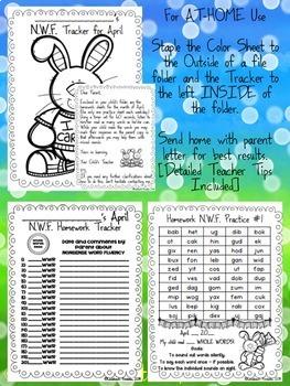 Spring Nonsense Word Fluency RTI April Assessment Pack
