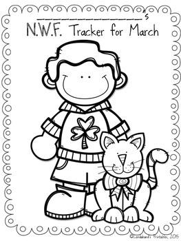 St. Patrick's Nonsense Word Fluency R.T.I. Assessment Pack for March