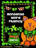 St. Patrick's Nonsense Word Fluency R.T.I. Assessment Pack for March