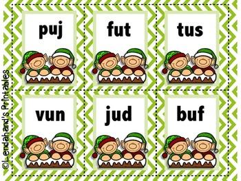 Christmas Elf Nonsense Word Fluency R.T.I. Resource Pack