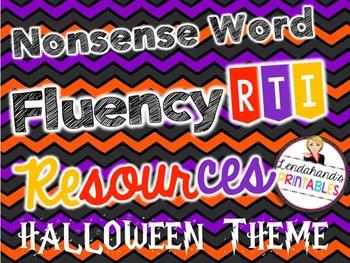 Halloween Nonsense Word Fluency R.T.I. Resource BLACKout Bingo Game