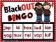 Red Ribbon Nonsense Word Fluency RTI Resource BLACKout Bingo Game