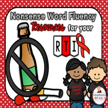 Nonsense Word Fluency BLACKout Bingo Game (RED RIBBON Drug