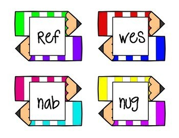 Nonsense Word Fluency Back to School Game