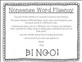 Nonsense Word Fluency Bingo