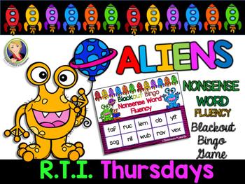 Alien Nonsense Word Fluency Blackout Bingo Game