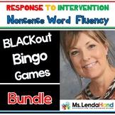 Nonsense Word Fluency Blackout Bingo Games by Ms. Lendahand