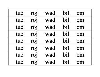 Nonsense Word Fluency Bracelets