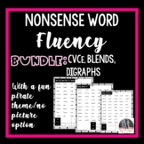 Nonsense Word Fluency Bundle, CCVC, CVCC, CVCe, digraphs
