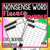 Nonsense Word Fluency Bundle, CCVC, CVCC(blends), CVCe(sil