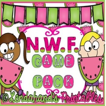 Nonsense Word Fluency Bundle by Ms. Lendahand (WATERMELON Theme)