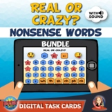 Nonsense Word Fluency Bundle of Boom Task Cards for Distan