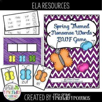 Nonsense Word Fluency - Spring Themed