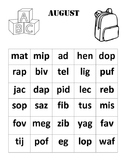 Nonsense Word Fluency Chart (August)