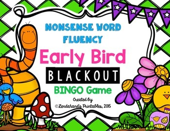 Spring Nonsense Word Fluency RTI Resource (Early Bird Gets the Worm Theme)