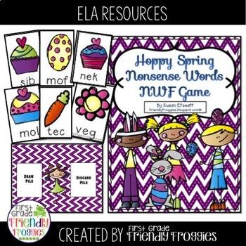 Nonsense Word Fluency - Easter / Spring themed