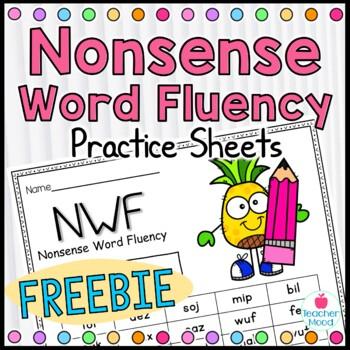 Nonsense Word Fluency {FREEBIE} Practice Work Sample {RTI