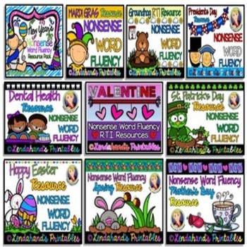 Nonsense Word Fluency R.T.I. GROWN BUNDLE ~ SET 1 with Ms.